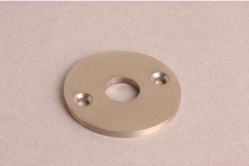 Rozet rond 50mm geborsteld nikkel voor o.a. deurkrukken en wcsluitingen