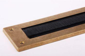 Tochtwering brons antiek met zwarte borstel 325mm