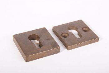 SKG*** profiel-cilinder veiligheidsbeslag brons antiek vierkant