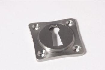Sleutelrozet 38 mm ton-model met sleutelgat geborsteld Chroom