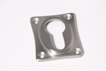 Rozet 38 mm voor cilinderslot ton-model geborsteld chroom