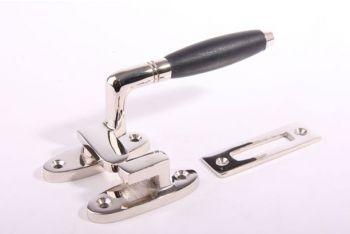 Raamsluiting Rechts ton-model nikkel/geborsteld nikkel-ebbenhout