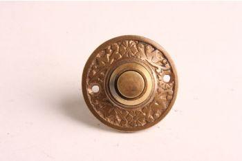 Deurbel-beldrukker brons antiek 42mm