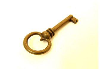 Sleutel Brons antiek gat 35mm