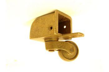Wieltje antiek brons horizontaal 28x25mm/65mm.