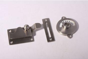 WC sluiting vrij-bezet geborsteld nikkel - inlaat/bocht