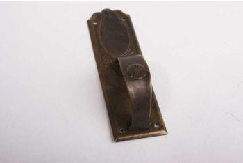 Meubelgreep dun messing verticaal brons antiek 27 mm