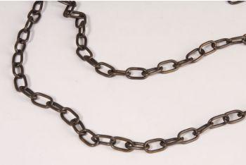 Ketting 12mm brons antiek dikte 2mm één meter lengtes aan elkaar
